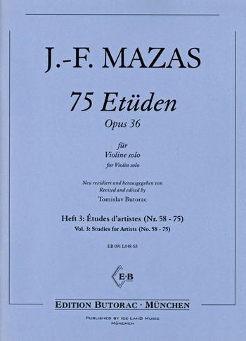 75 Etüden op 36 Heft 3: für Violine