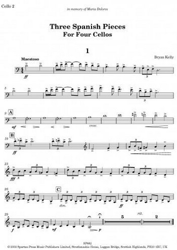 3 spanish Pieces: for 4 cellos