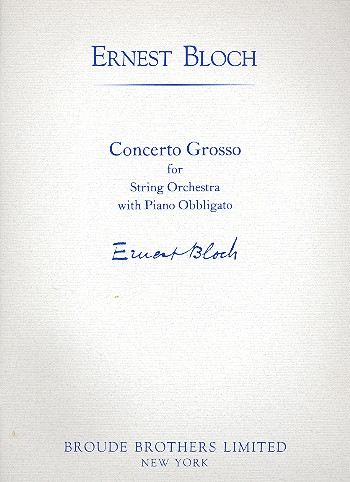 Concerto grosso: for piano and string orchestra
