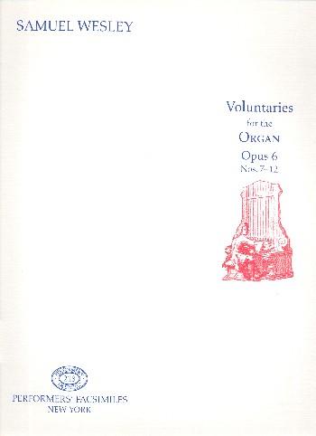 12 Voluntaries op.6 vol.2 (nos.7-12): for organ