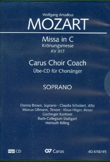 Messe C-Dur KV317 - Chorstimme Sopran : - Vollanzeige.