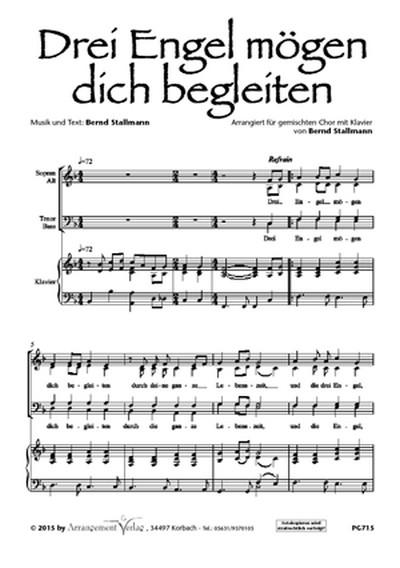 Bernd Stallmann Drei Engel Moegen Dich Begleiten Vierstimmig Fuer Satb Und Klavier 654117 Notenpunkt Der Laden Für Musikalien