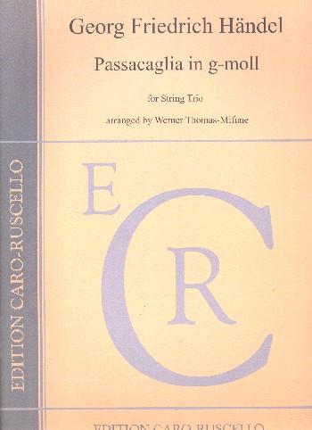Passacaglia g-Moll: für Violine, Viola und Violoncello