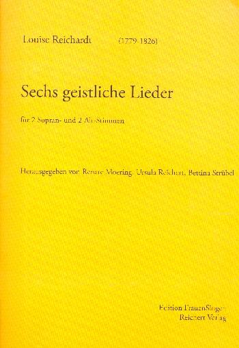 6 geistliche Lieder: für Frauenchor a cappella (Klavier/Bc ad lib)