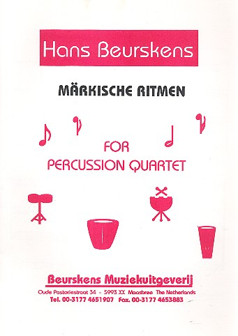 Märkische Ritmen: for percussion quartet