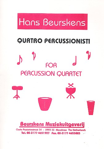 4 Percussionisti: for percussion quartet