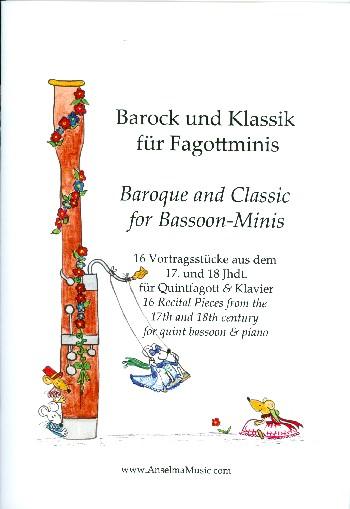 Barock und Klassik für Fagottminis für Quintfagott und Klavier