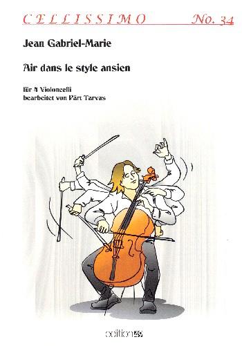 Air dans le style ansien: für 4 Violoncelli