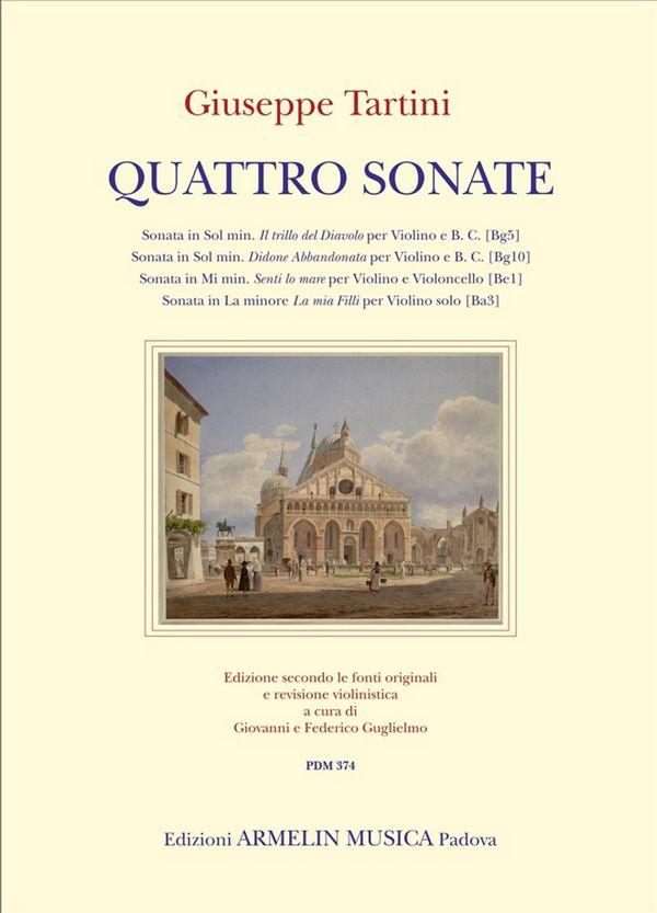 4 Sonate: per violino (e violoncello) e Bc