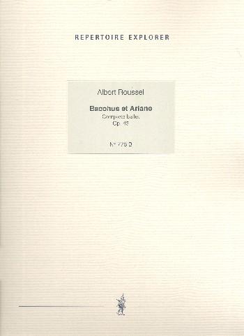 Bacchus et Ariane opus.43: pour piano (réduction de piano)