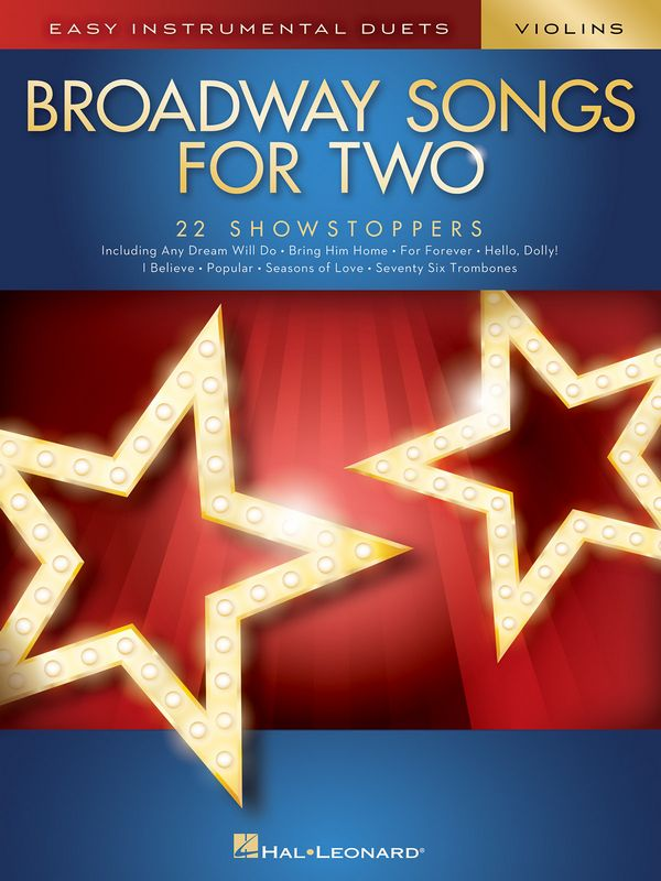 Broadway Songs for two: for 2 string instruments