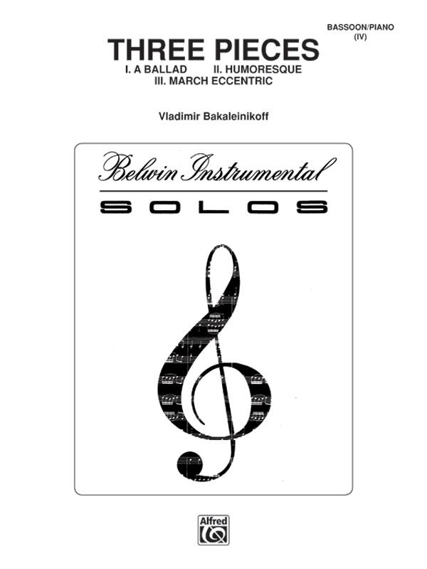 3 Stücke: für Fagott und Klavier
