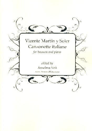 Canzonette italiane: for bassoon and piano