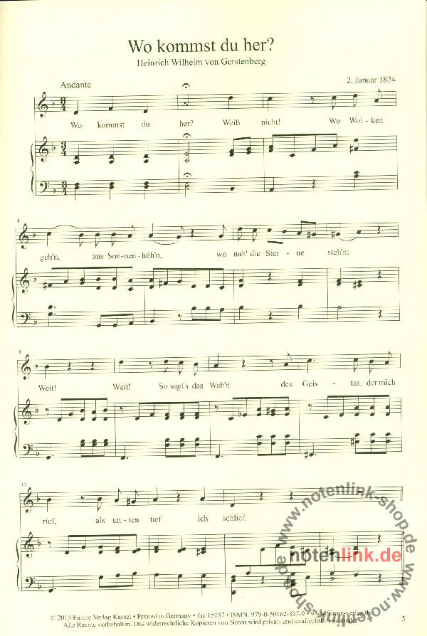 Hensel, Fanny (Mendelssohn) - Wo kommst du her :