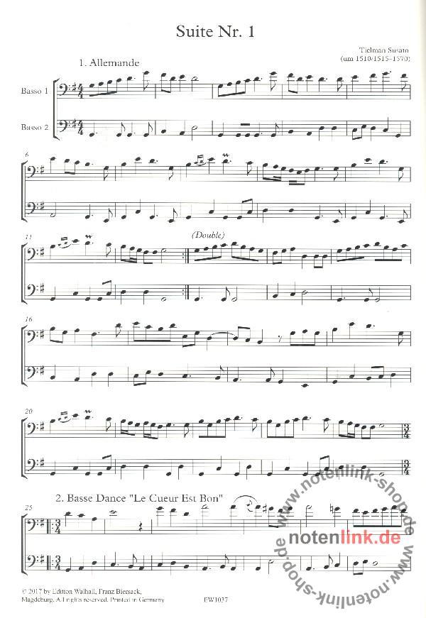 Susato, Tielman - Danserye Band 1 (Suiten Nr.1-3) :