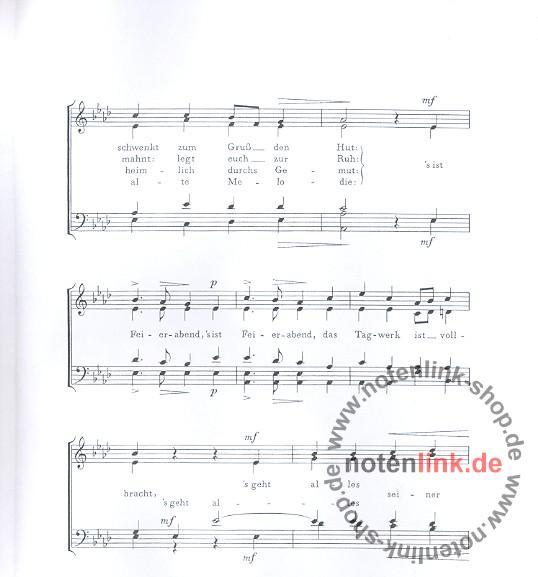 Anton Günther - Feierabend (hochdeutsche Fassung) : für
